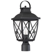 Designers Fountain 34836-BK Belmont 1 Light 18 inch Black Outdoor Post Lantern