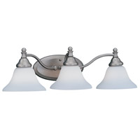 Savon 3 Light 26 inch Pewter Bath Bar Wall Light in Satin Opal