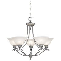Palladium 5 Light 27 inch Pewter Chandelier Ceiling Light