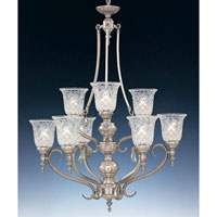 Designers Fountain Victoria Hall 9 Light Chandelier in Satin Platinum 5959-SP thumb
