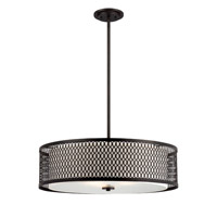 Designers Fountain Continental 3 Light Pendant in Artisan 6202-ART