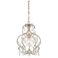Calla 1 Light 13 inch Argent Silver Mini Chandelier Ceiling Light