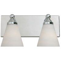 Hudson 2 Light 14 inch Chrome Bath Bar Wall Light