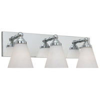 Hudson 3 Light 22 inch Chrome Bath Bar Wall Light