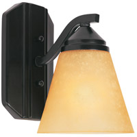 Designers Fountain 6601-ORB Piazza 1 Light 6 inch Oil Rubbed Bronze Wall Sconce Wall Light in Goldenrod