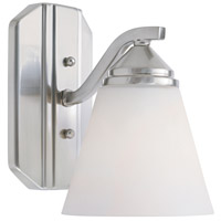 Designers Fountain 6601-SP Piazza 1 Light 6 inch Satin Platinum Wall Sconce Wall Light in Frosted White