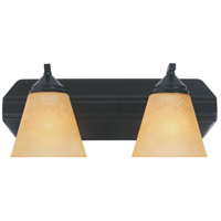 Piazza 2 Light 17 inch Oil Rubbed Bronze Bath Bar Wall Light in Goldenrod