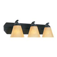 Piazza 3 Light 24 inch Oil Rubbed Bronze Bath Bar Wall Light in Goldenrod