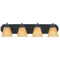 Piazza 4 Light 30 inch Oil Rubbed Bronze Bath Bar Wall Light in Goldenrod