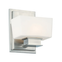 Geneva 1 Light 6 inch Satin Platinum Wall Sconce Wall Light