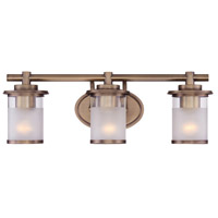 Essence 3 Light 23 inch Old Satin Brass Vanity Wall Light