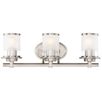 Essence 3 Light 23 inch Satin Platinum Bath Vanity Wall Light