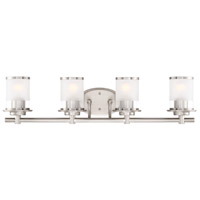 Essence 4 Light 33 inch Satin Platinum Bath Vanity Wall Light