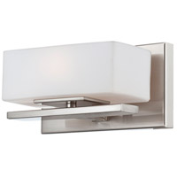 Meridian 1 Light 8 inch Satin Platinum Wall Sconce Wall Light