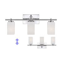 Dakota 3 Light 24 inch Chrome Bath Bar Wall Light