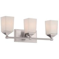 Designers Fountain Corbin 3 Light Bath Bar in Satin Platinum 68603-SP