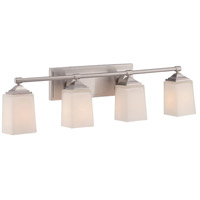 Corbin 4 Light 33 inch Satin Platinum Bath Bar Wall Light
