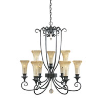 Designers Fountain Arabella 9 Light Chandelier in Dark Tahoe 80389-DT