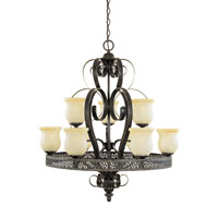 Designers Fountain Trevi 9 Light Chandelier in Burnt Umber with Silver Highli 80689-BUS thumb