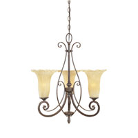 Designers Fountain Melia 3 Light Chandelier in Warm Mahogany 80983-WM