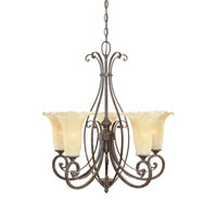 Designers Fountain Melia 5 Light Chandelier in Warm Mahogany 80985-WM