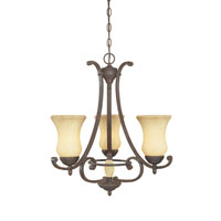 Designers Fountain Salerno 3 Light Chandelier in Ancient Oak 81083-AO photo thumbnail