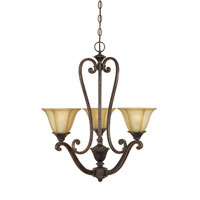 Designers Fountain Olympia 3 Light Chandelier in Imperial Walnut 81183-IW
