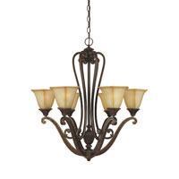 Designers Fountain Olympia 6 Light Chandelier in Imperial Walnut 81186-IW