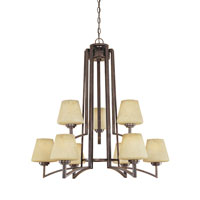 Designers Fountain Antigua 9 Light Chandelier in Burnt Umber 81489-BU photo thumbnail