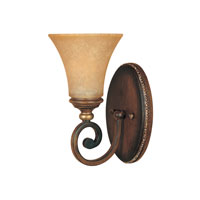 Designers Fountain Montreaux 1 Light Wall Sconce in Burnished Walnut with gold acc 81501-BWG
