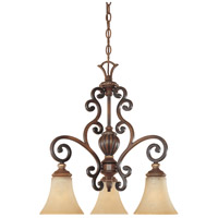 Designers Fountain Montreaux 3 Light Chandelier in Burnished Walnut w/Gold 81583-BWG