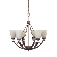 Designers Fountain Harlow 6 Light Chandelier in Tuscana 81686-TU