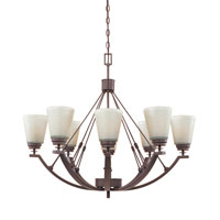 Designers Fountain Harlow 8 Light Chandelier in Tuscana 81688-TU