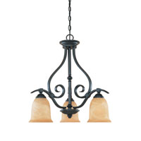 Designers Fountain Montague 3 Light Chandelier in Burnished Bronze 81783-BNB