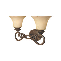 Mendocino 2 Light 20 inch Forged Sienna Bath Bar Wall Light