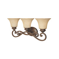 Mendocino 3 Light 24 inch Forged Sienna Bath Bar Wall Light