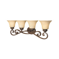 Mendocino 4 Light 32 inch Forged Sienna Bath Bar Wall Light