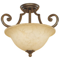 Mendocino 2 Light 120 Forged Sienna Semi-Flush Ceiling Light