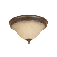 Mendocino 2 Light 15 inch Forged Sienna Flushmount Ceiling Light
