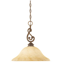 Designers Fountain Mendocino 1 Light Pendant in Forged Sienna 81832-FSN