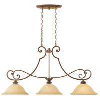Mendocino 3 Light 45 inch Forged Sienna Island Pendant Ceiling Light
