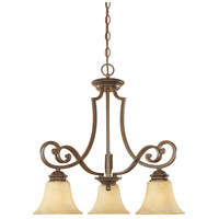 Designers Fountain 81883-FSN Mendocino 3 Light 23 inch Forged Sienna Chandelier Ceiling Light