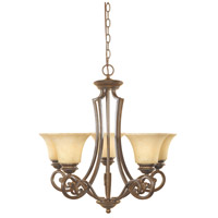Mendocino 5 Light 25 inch Forged Sienna Chandelier Ceiling Light