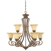Mendocino 9 Light 31 inch Forged Sienna Chandelier Ceiling Light