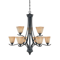 Designers Fountain Bella Vista 9 Light Chandelier in Burnished Bronze 81989-BNB