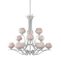Designers Fountain Moon Shadow 12 Light Chandelier in Satin Platinum 820812-SP