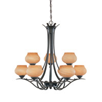 Designers Fountain Moon Shadow 9 Light Chandelier in Burnished Bronze 82089-BNB