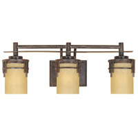 Designers Fountain 82103-WM Mission Ridge 3 Light 24 inch Warm Mahogany Bath Bar Wall Light