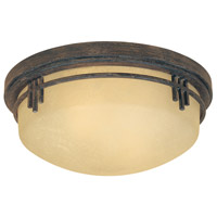 Mission Ridge 2 Light 13 inch Warm Mahogany Flushmount Ceiling Light