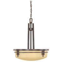 Designers Fountain 82131-WM Mission Ridge 3 Light 120 Warm Mahogany Pendant Ceiling Light